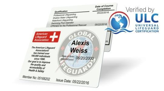 American Lifeguard ID Card