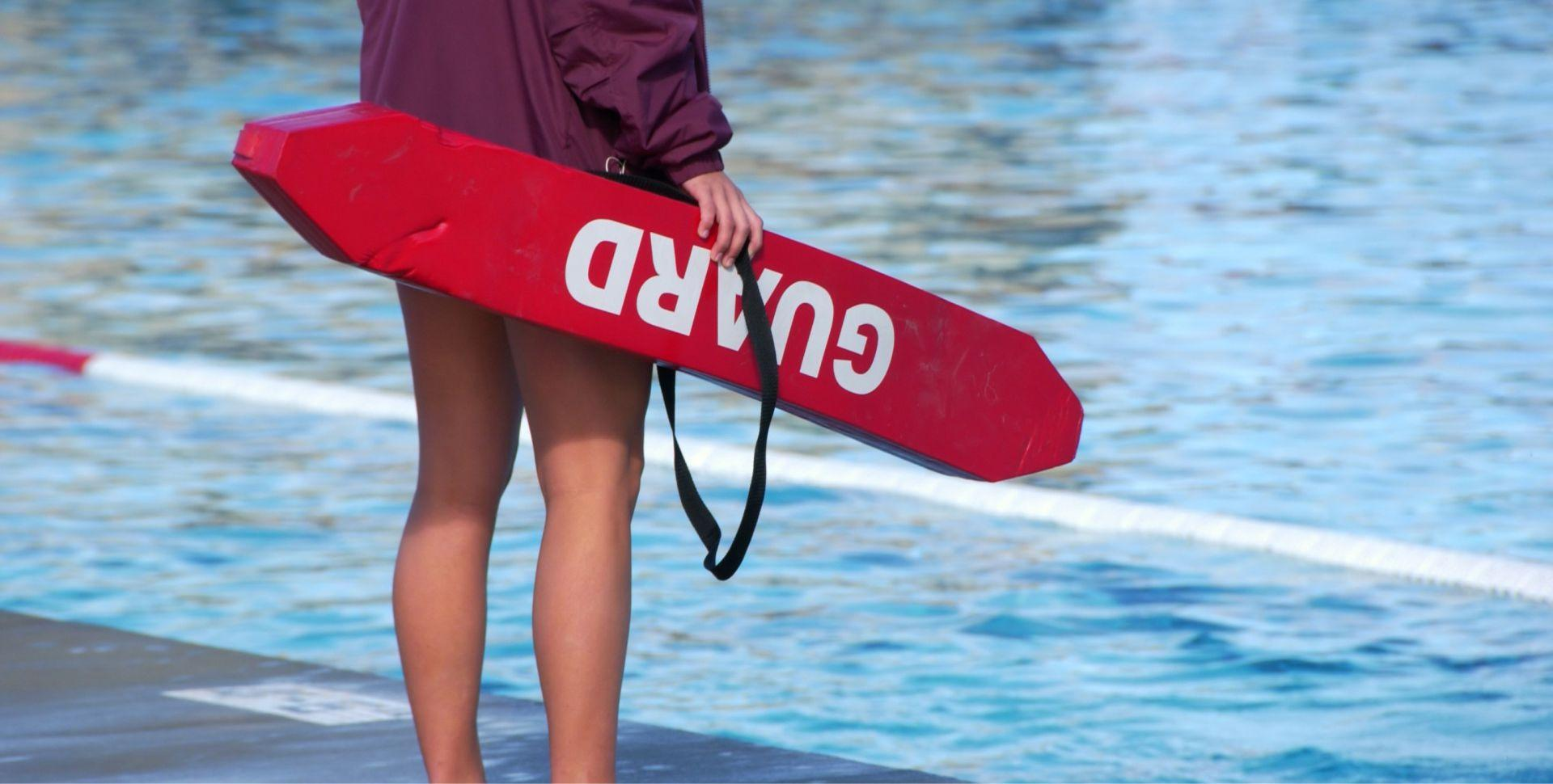 Lifeguarding banner