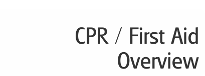 CPR / First Aid Overview button